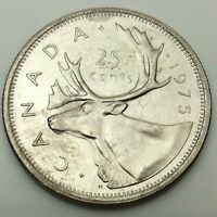1975 Canadian 25 Cents Quarter Canada Uncirculated Coin C713