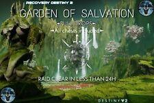 Destiny 2 Garden of Salvation full Raid PS4 (Xbox-PC cross save)