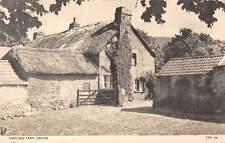uk2382 thatched farm croyde real photo  uk