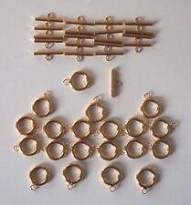 20 piccole Placcato Oro Plain T bar o attivare/disattivare Fermagli, i risultati per gioielli