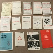 VINTAGE THEATRE PROGRAMMES - PICCADILLY THEATRE x 14