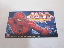 MARVEL COMICS SPIDERMAN SUPER POWERED SAVINGS CARD RITE AID STORES 04 SPIDER-MAN