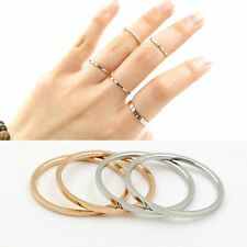 18K Gold Filled Stainless Steel Jewelry Fashion Thin Woman's Rings 2 Style