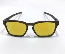 Oakley Sunglasses * Latch Squared Asian Fit 9358-05 Matte Rootbeer 24K Iridium