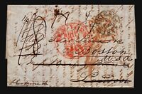 1848 (Nov 25) Retaliatory Rate Cover / Last Sailing / Trieste to Boston - L4733