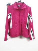 Nike Womens Girls Size Small 4-6 Windbreaker Jacket Pink Black & White Swoosh