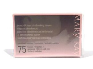 MARY KAY BEAUTY BLOTTERS~OIL ABSORBING TISSUES~2 PACK~150 TISSUES~LOT OF 2~NIP!