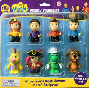 NEW THE WIGGLES WIGGLY FIGURINES 8-PACK (All your favourite characters)