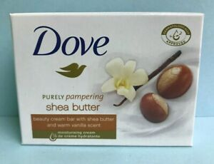 Lot of 48 Dove Shea Butter And Vanilla Moisturizing Beauty Cream Soap 3.5 oz