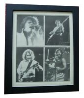 CREEDENCE CLEARWATER+POSTER+AD+RARE+RARE ORIGINAL 1973+FRAMED+EXPRESS WORLD SHIP