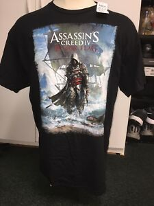 NWT Assassin's Creed IV Black Flag T-Shirt, Adult XL NEW WITH TAG