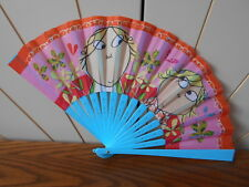 CHARLIE & LOLA PATTERNED FAN child's/childrens/girls toy accessory item BLUE