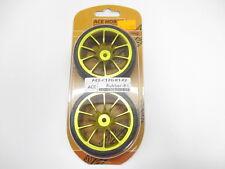 Volk 10 Spoke Gold 1/10 RC On Road Rubber Touring Wheel Set (2) #ACE-C12G-R1-F2