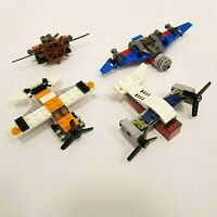 LEGO Airplane Bundle Joblot - 4x Small Helicopter, Plane Set - Lego City