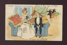 France Comic Gambling BRIDGE Expressions Illustrated A Weak Declaration 1905 PPC
