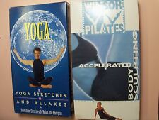 Molly Fox's YOGA (2-VHS tape LOT) and ACCELERATED BODY SCULPTING Mari Winsor