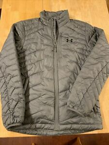 Under Armour Cold Gear Reactor/storm  Puffer Jacket Size Small  Grey Quilted