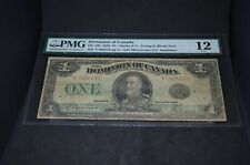 Pmg Graded Dominion of Canada Dc-25f 1923 $1 Banknote Group 2 Fine12