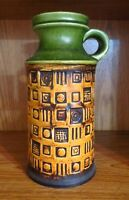 MCM German Vase BAY KERAMIK 61 25 W. Germany Vintage Fat Lava Mid Century
