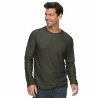 Marc Anthony Men's Long Sleeve Slim Fit French Terry Crew