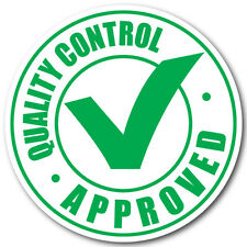 "Quality Control Approved Stickers, 1"" Circles, Roll of 1,000 Labels"