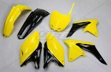 Kit plastique UFO motocross Suzuki RMZ 250 2014 - 2015 - 2016 origine jaune