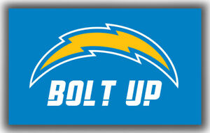 Los Angeles Chargers Football BOLT UP Memorable Flag 90x150cm 3x5ft best banner