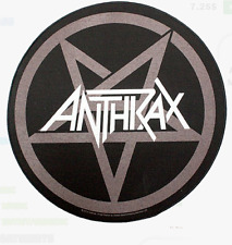 ANTHRAX - PENTAGRAM LOGO - BACK PATCH - BRAND NEW - MUSIC BAND 0961