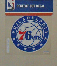 PHILADELPHIA 76ERS 4 X 4 DIE-CUT DECAL OFFICIALLY LICENSED PRODUCT