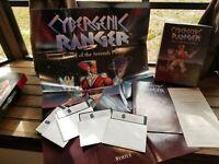 "Rare Vintage Cybergenic Ranger PC game 5.25"" disks Symtus Floppy Disk Big Box"
