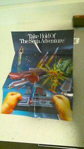 Vintage Sega Master System Promotional Poster - 100% Original/Authentic