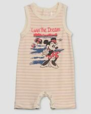 Nwt Disney By Junk Food Baby Girls Minnie Mouse Striped Romper - Size 3-6 Months
