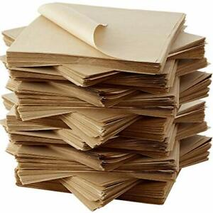 12x12 Parchment Brown Deli Sandwich Wrap Paper Recycled Liners by Avant Grub