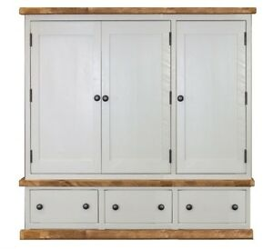Handmade Rustic Triple Wardrobe. Painted Bedroom Furniture. Any Size Made.