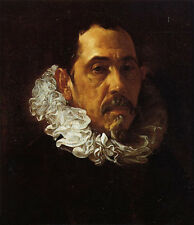 Huge nice Oil painting Diego Velazquez - Portrait of a Man with a Goatee canvas