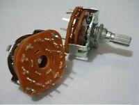 1x Fan Audio Rotary Switch Potentiometer 1 Pole 12 Position 12P 9v-12v-110v-250v