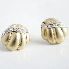 Ohrringe Gold 333 Diamant Ohrstecker Bi-Color 8 kt.