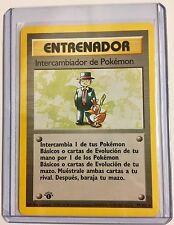 ENTRENADOR 1st Edition INTERCAMBIA de Pokemon 77/102 SPANISH Rare NM/MINT