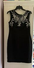 Adrianna Pappell BNWT Black Cocktail Party Evening Dress Size 12