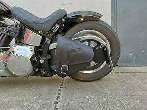Harley Davidson Schwarz EAGLE BLACK Softail 1981-2019 Schwingentasche HD