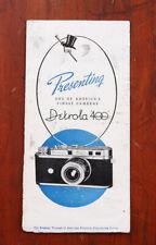 Detrola 400 Sales Brochure Fold-Out, Fairly Worn/214159
