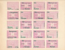 LABEL VIGNETTE VIÑETA  IDO EUROPA 1962  ESPERANTO  LILA  VERDE  SIN DENTAR MNH**