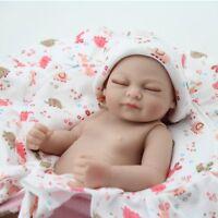 "10"" Reborn Baby Dolls Realistic Sleeping Full Soft Vinyl Silicone Girl Doll Gift"