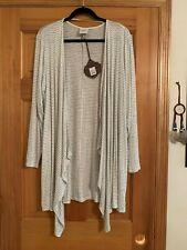 NWT KNOX ROSE Black White Stripe Cardigan Sweater Long Sleeve * Size XXL