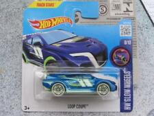 HOT WHEELS 2016 # 053/250 Loop Coupé Azul sobre verde HW brillantes ruedas Funda