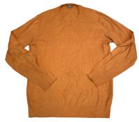 UNIQLO Mens Knitted Jumper Medium Orange Plain Pullover