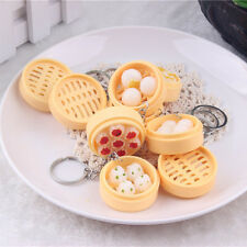 Simulation Food Steamer Breakfast Key Chain Ring Keyring Pendant Purse Keychain