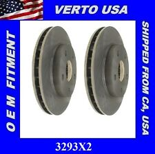 Set OF Front Brake Rotors For Toyota MR2 1991-1995 except Turbo 3293X2 Verto USA