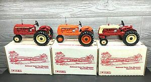 Ertl Cockshut 20, 20 Deluxe & Co-op Tractor National Museum 3 Piece Set  1/16
