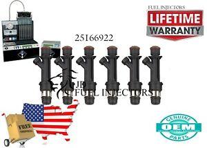 X6 Isuzu Trooper: 1998 - 2002  Delphi Fuel Injectors  25166922